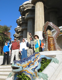 Group Visiting Güell Park