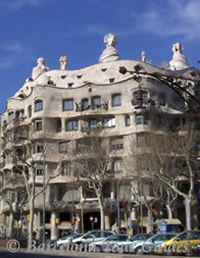 Pedrera Building (Milà House) by Architect Antonio Gaudi